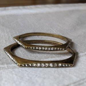 Brass & Rhinestone Bangles